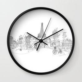 Paris! Version#1 Wall Clock