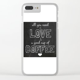 Love and coffee Clear iPhone Case