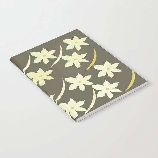 Golden Flower Abstract Notebook
