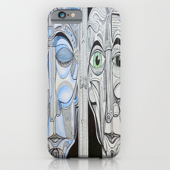 """Happy/Awake/Sad/Asleep/"" iPhone & iPod Case"