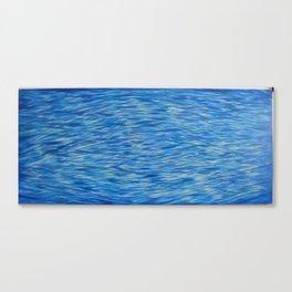 Water Meditation Diamond Wave Pattern Canvas Print