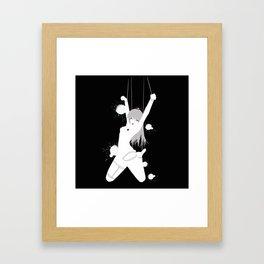 Ahyma - Black Rain Framed Art Print