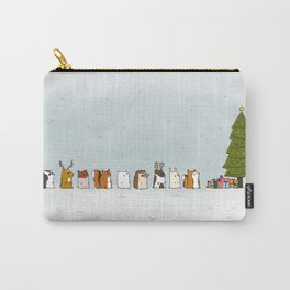 winter animals on the christmas tree Carry-All Pouch