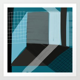 Blue Architecture 5 Art Print