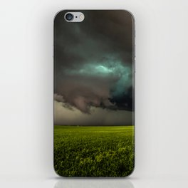 May Thunderstorm - Twisting Storm Over House in Colorado iPhone Skin