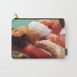 Nigiri Sushi Platter Polygon Art Carry-All Pouch