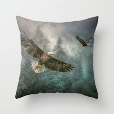 Valley of the eagles Throw Pillow