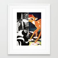 givenchy Framed Art Prints featuring Givenchy Bambi by cvrcak