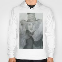 mad hatter Hoodies featuring Mad hatter by crazy_feline