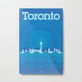 Toronto Minimalism Poster - Winter Blue Metal Print