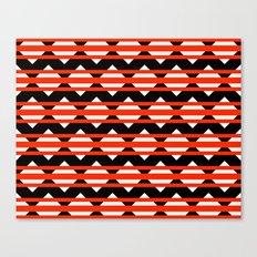 Vreugdehil Black & Red Canvas Print