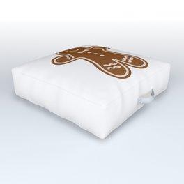 Gingerbread Hugs Outdoor Floor Cushion