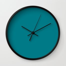 Morocco Teal Solid Colour Wall Clock