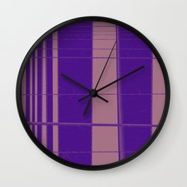 From narrow tiles to wider tiles abstract design Wall Clock