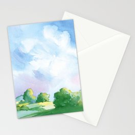 Landscape watercolor Stationery Cards