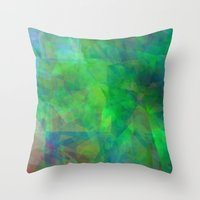emerald Throw Pillows featuring Emerald  by Christy Leigh