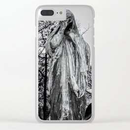 B&W Photography, Grief Clear iPhone Case