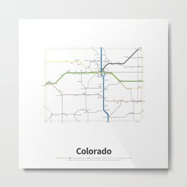 Highways of the USA – Colorado Metal Print