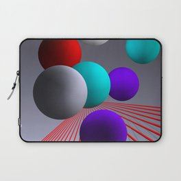 converging lines and balls -2- Laptop Sleeve