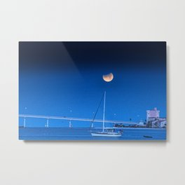 Moon Sail Metal Print