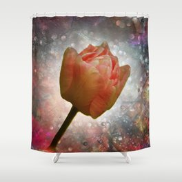flowers on texture -101- Shower Curtain