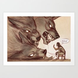 Taking the Dog for a Walk Art Print