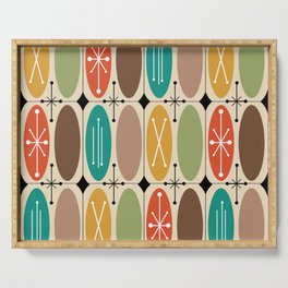 Atomic Era Ovals In Rows Colorful Serving Tray