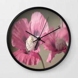 Poppies at Nature Wall Clock