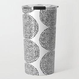 Beech in Black and White Travel Mug