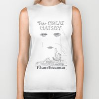 gatsby Biker Tanks featuring The Great Gatsby by S. L. Fina