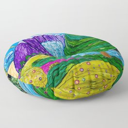 From The Mountains To The Sea Floor Pillow