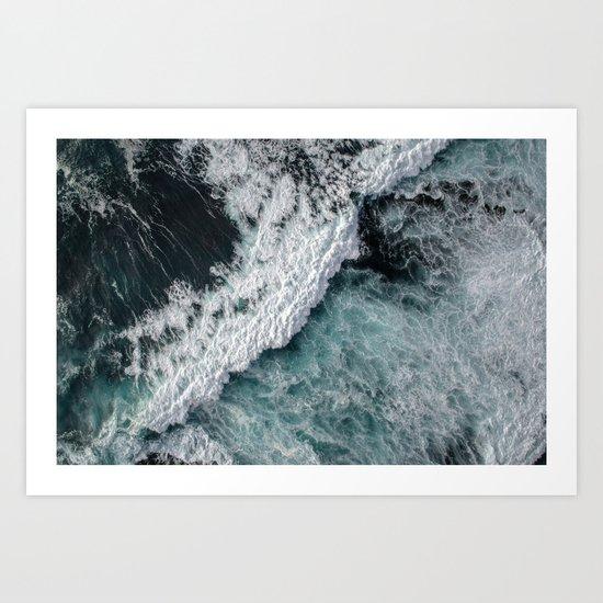 Ocean Wrath Art Print