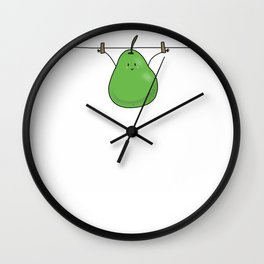 Hanging Pear Wall Clock