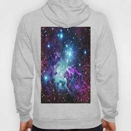 Fox Fur Nebula : Purple Teal Galaxy Hoody