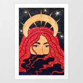 floating goddess Art Print