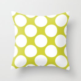 Polka Dots Green Throw Pillow