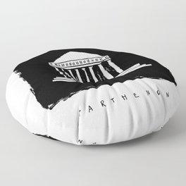 Parthenon in ink Floor Pillow