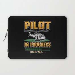 Funny Helicopter Fly Pilot Gift Laptop Sleeve