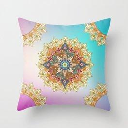 mandala fullcolor Throw Pillow