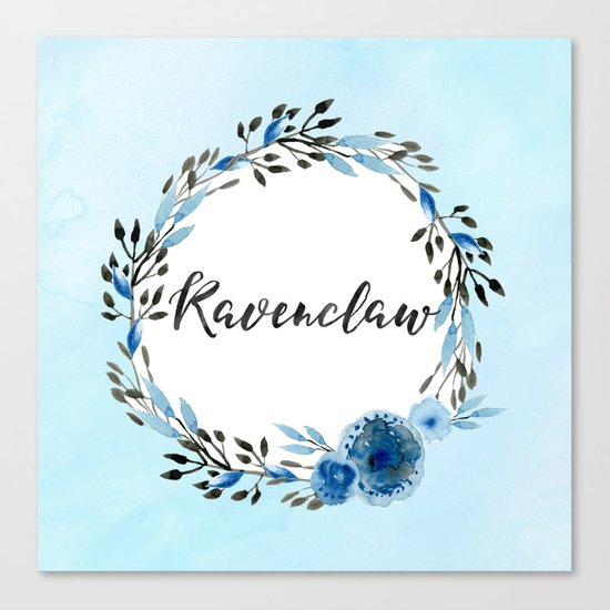 HP Ravenclaw in Watercolor Canvas Print