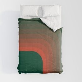 Emerald and Coral Curve Comforters