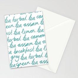 I Love Tea Stationery Cards