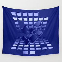 Explosion in blau Wall Tapestry