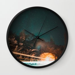Yosemite Tunnel Light Trail Wall Clock