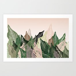 Crowded Leaves - Plant Lover Art Print
