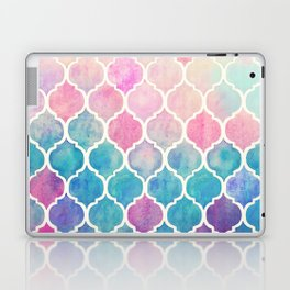Rainbow Pastel Watercolor Moroccan Pattern Laptop & iPad Skin