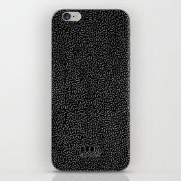 Boom Things: Memphis, White on Black iPhone Skin
