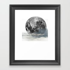 Low Moon Framed Art Print