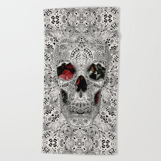 Lace Skull Light Beach Towel