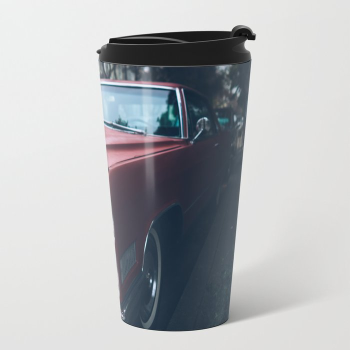 Vintage Caddy in The City of SF Travel Mug